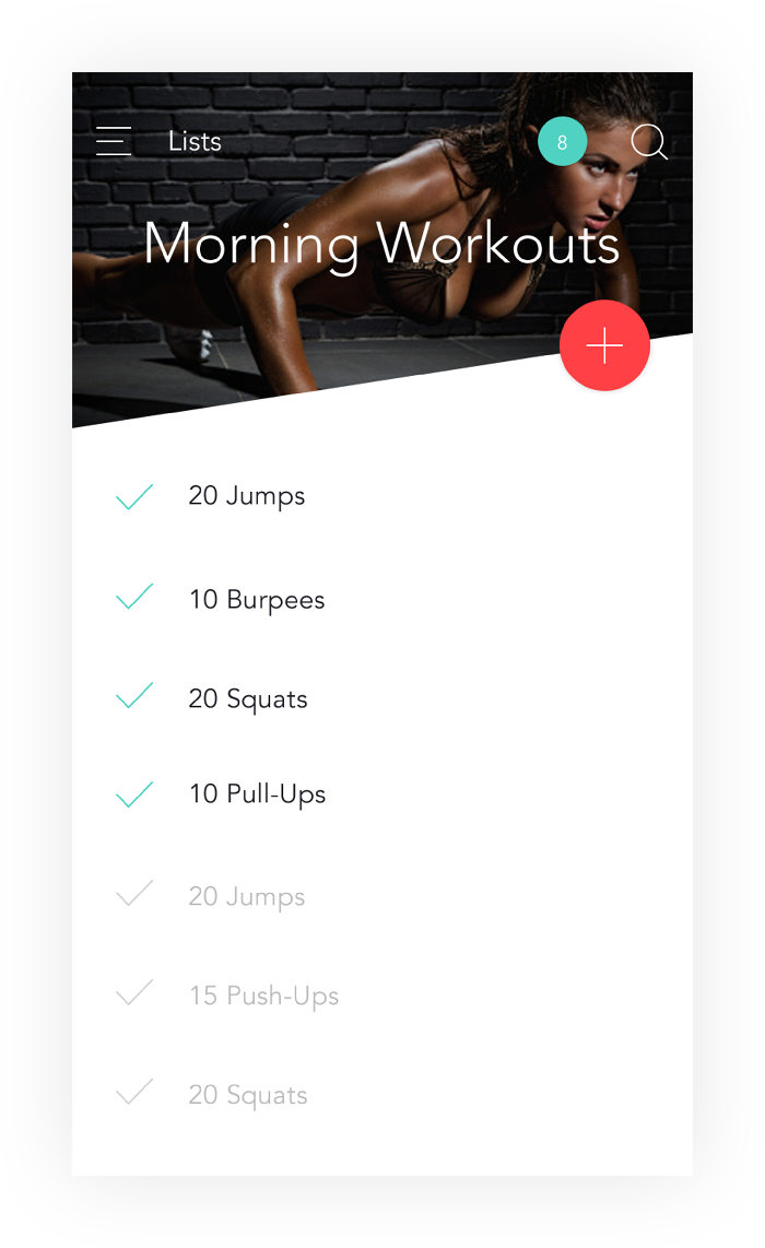 Workout reps on Aidlab Fitness app